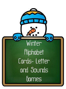 Winter Snowman Alphabet Letter/Sound Cards and Games