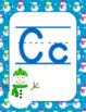 Winter Snowman Alphabet Posters Classroom Decor - Christmas New Years