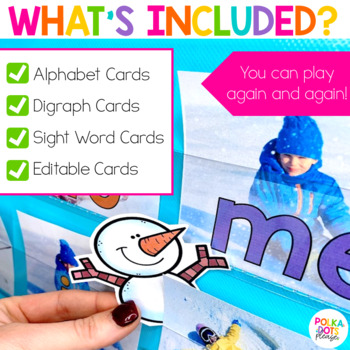 Winter Snowman Alphabet and Sight Word Game
