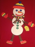 Winter Snowman Art