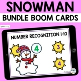 Winter Snowman Boom Cards BUNDLE for Preschool