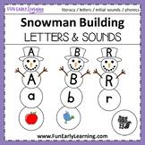 Winter Snowman Building - Letter Sound Correspondence
