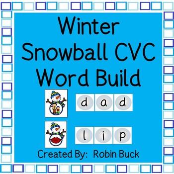Winter Snowball CVC Word Build