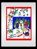 Winter Snowman Commercial Clip Art