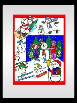 Winter Snowman Commercial Clip Art