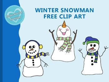 Winter Snowman Clip Art