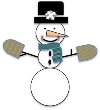 Winter Snowman Clip Art Freebie