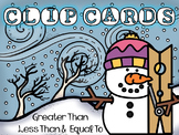 Winter / Snowman Clip Cards - Greater Than, Less Than, Equal To