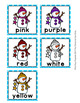 Winter Snowman Color Match Clip Cards and Memory Game