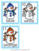 Winter Snowman Colors Write the Room Activity