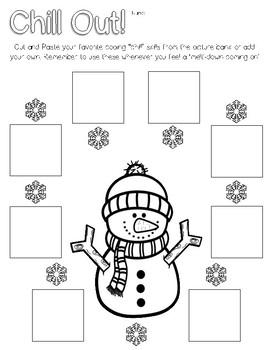Winter Snowman Coping Skills Calm Down activity