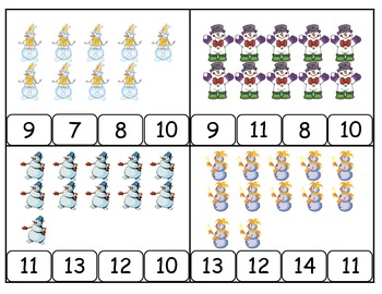 Winter Snowman Count and Clip