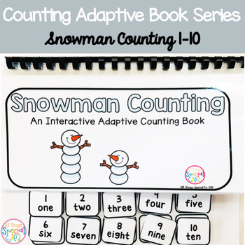 Winter Snowman Counting Adaptive Book (#1-10)