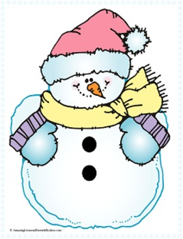 Winter Snowman Couting Mats and Coloring Sheets