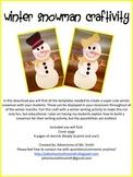 Winter Snowman Craftivity