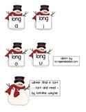 Winter Snowman Final E Silent E SORT Literacy Center Game