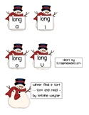 Winter Snowman Final E Silent E SORT Literacy Center Game