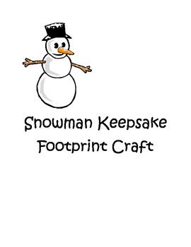 Winter Snowman Footprint Craft
