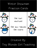 Winter Snowman Fraction Cards