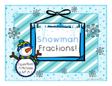 Winter & Christmas Snowman Fractions-simple & no prep!