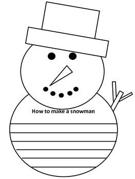 Winter Snowman How To Writing Page