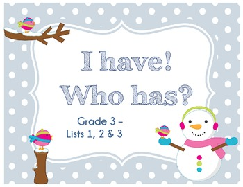 Winter Snowman ~ I have! Who has? Sight Word & Word Work Game - Grade 3 Bundle