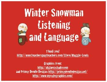 Winter Snowman Language and Listening