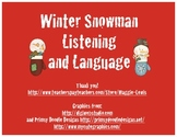 Winter Snowman Language and Listening
