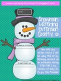 Winter Snowman Listening Reading Crafty Center Extension ~