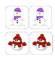 Winter - Snowman - Matching and Memory Game - 15 pairs!