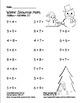 """""""Winter Snowman Math"""" Add Within 20 - Common Core -  Fun! (black line version)"""