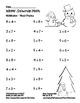 """Winter Snowman Math"" Mixed Multiplication -Common Core Fun! (blackline version)"