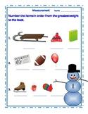 Winter Snowman Measurement Sheet