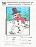 Winter Snowman Music Activity Sheet