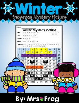 Winter Snowman Mystery Picture