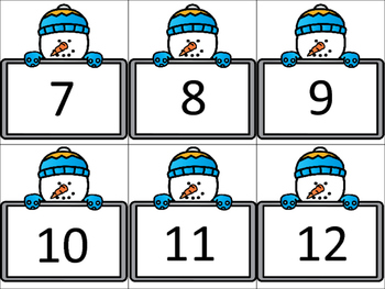 {Winter Snowman Number Sort FREEBIE!}