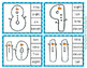Winter Snowman Number Word Match Clip Cards