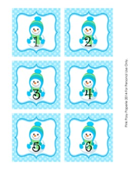 Winter Snowman Odd and Even Numbers Sorting Game 1-30