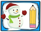 Winter Snowman Playdough Cards 1-10