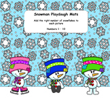 Winter Snowman Playdough Mats including Numbers 1 to 10