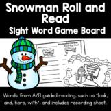 Winter Snowman Roll & Read | Sight Word Game Board, Record