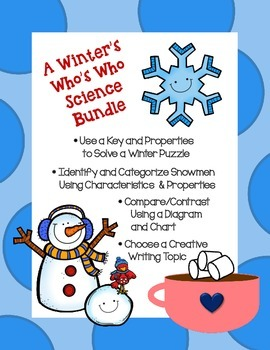 Winter Snowman Science Bundle- Critical Thinking, Classify