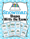 Winter Snowman Shapes Write the Room