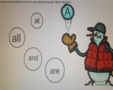 Winter Snowman Sight Word Smartboard