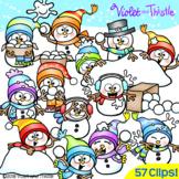 Snowman Clipart Snowball Fight Clip Art
