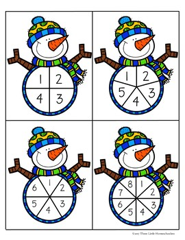 Money Math Winter Snowman Spin and Spend
