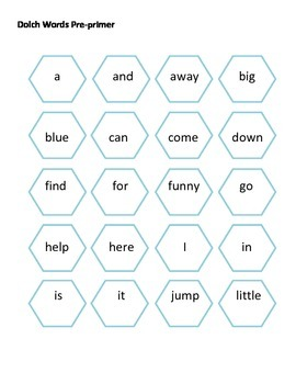 Winter Snowman Spot a Sight Word Game Dolch Words Pre-primer to Third Grade