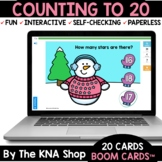 Winter Snowman Stars Counting to 20 Boom Cards Distance Learning