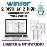 Winter Task Cards: 2 Digit by 2 Digit Multiplication