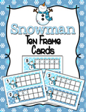 Winter Snowman Ten Frame Cards